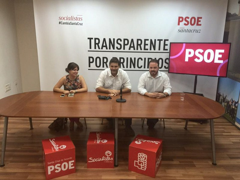 Elena Mateo, José Ángel Martín y Andrés Casanova, ayer, durante la rueda de prensa ofrecida en la capital. / DA