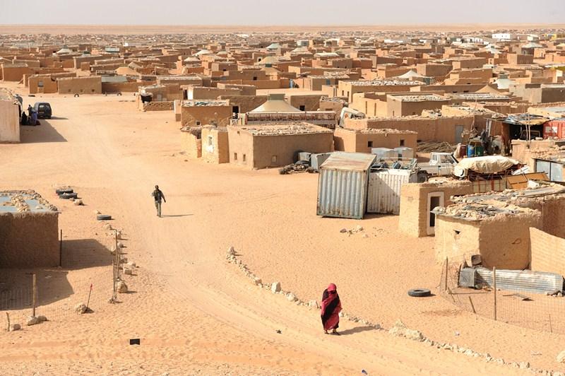 Los campamentos de refugiados de Tinduf se encuentran situados en pleno desierto argelino, un lugar inhóspito donde existen graves deficiencias higiénico-sanitarias. / DA