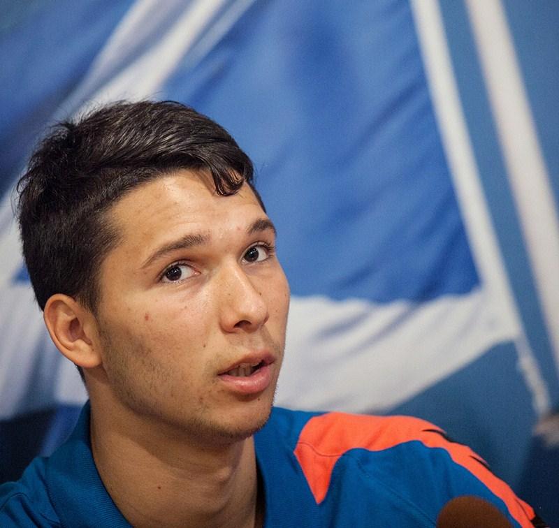 El argentino se mostró convencido de poder hacer un buen papel en Tenerife. / ANDRÉS GUTIÉRREZ