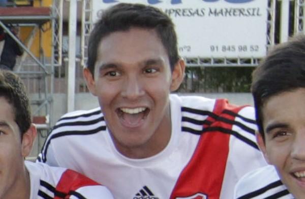 Martínez, durante una competición internacional del equipo sub 17 de River en Madrid| CARLOS BARAJAS