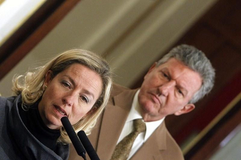 Ana Oramas (CC) y Pedro Quevedo (NC), diputados en las Cortes Generales. / DA
