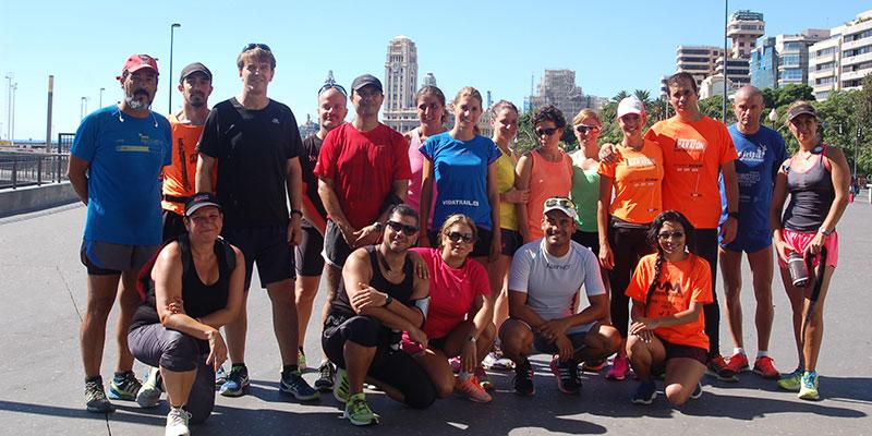 Cerca de una veintena de corredores disfrutaron de una entretenida mañana deportiva. / DA