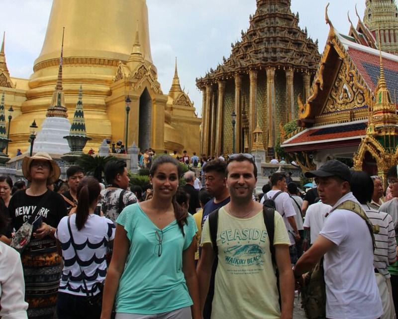 Los tinerfeños en Tailandia días antes del atentado