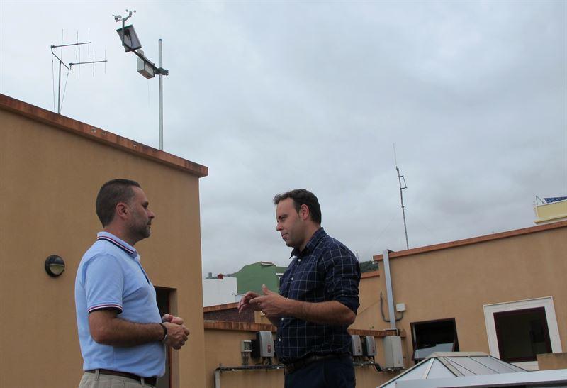 Nueva estación meteorológica. /  Foto: CEDIDA
