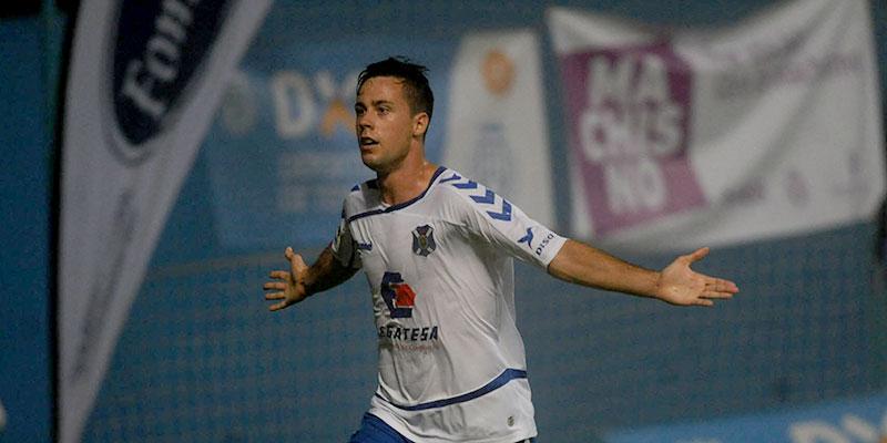 Pedro celebra el gol que le hizo al Éibar en Los Cuartos. / DA