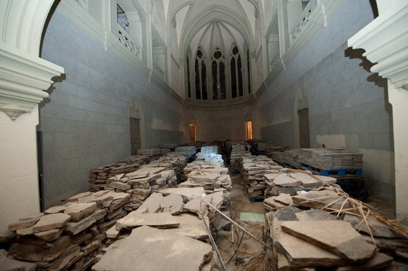 Mendoza trasladó a Mesa, en la reunión mantenida, que la capilla podría ser lo primero en abrirse. / FRAN PALLERO