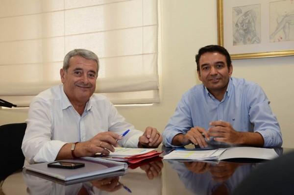 Aurelio Abreu y Víctor Chinea valoraron la coordinación entre Cabildo y Ayuntamiento. | DA