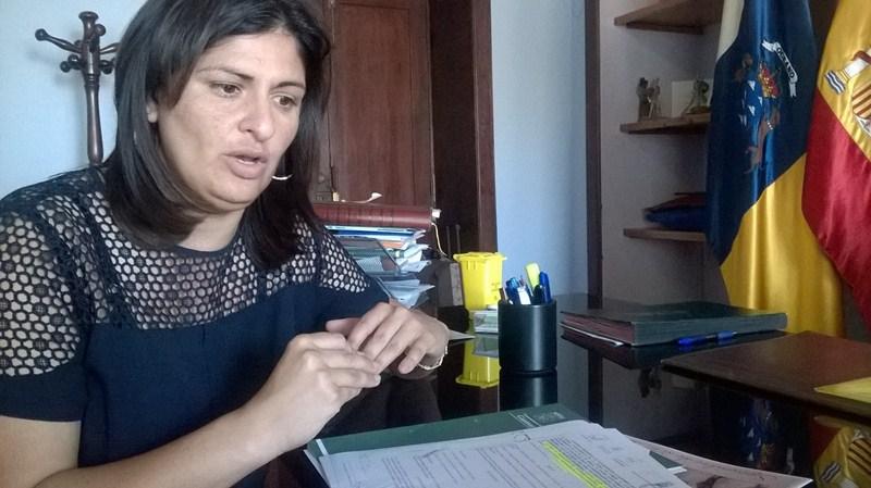 Carmen Luisa Castro, ayer, en su despacho de Alcaldía. / NORCHI
