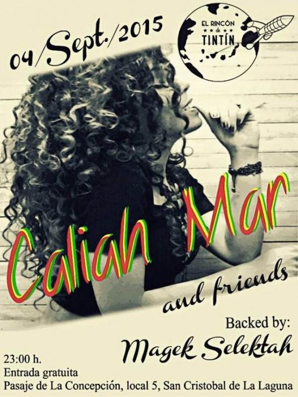 Cartel del concierto de Caliah Mar.   DA