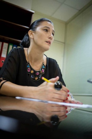 La directora general de Inmigración, Carmen Acosta, ayer. | A. GUTIÉRREZ