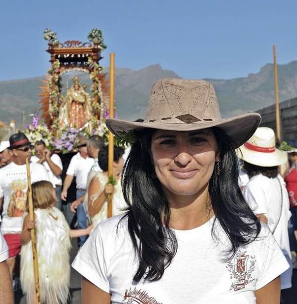 Carmen Luisa Castro, participando en una Bajada. | DA