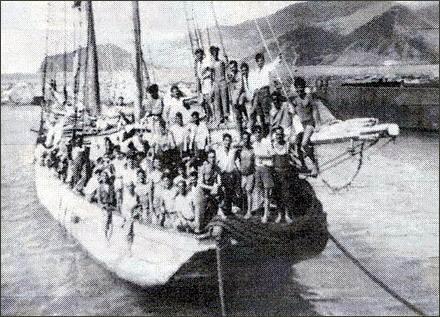 Emigrantes canarios a Venezuela (1949).   DA