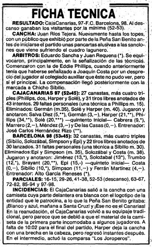 Para poder contentar a CajaCanarias, patrocinador del club, en el curso 86/87 se utilizó un extraño equipaje, con camiseta blanquiazul en el frente y aurinegra en su cara posterior. Duró solo 20 minutos de un partido con el FC Barcelona debido a las protestas. / da