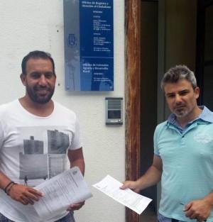 Jonás González y David Hernández, concejales de la ACP. | DA