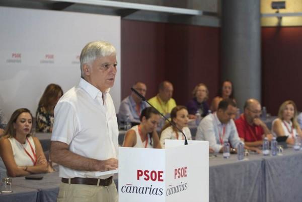 José Miguel Pérez, durante su intervención en el comité regional del PSOE. | DA