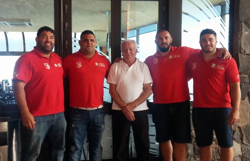 Marcos Ledesma, Josua Marrero, Javier LedesmaEusebio Ledesma, patrocinador Isidro Dorta