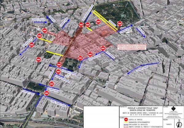 Mapa de los cambios en el tráfico de Méndez Núñez y alrededores.   POLICÍA LOCAL