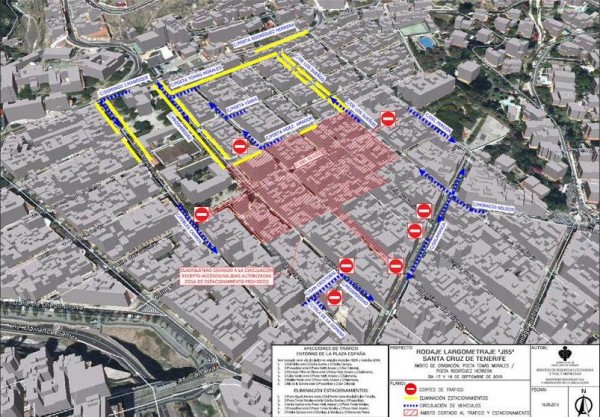 Mapa con los cambios de tráfico en el barrio Salamanca.   POLICÍA LOCAL