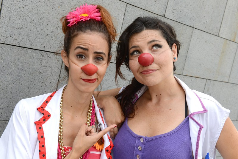 Las actrices se convierten en Macarroni y Tartaleta. / S. M.