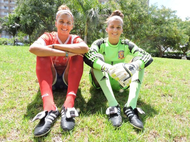 Natalia y Noelia Ramos Álvarez, jugadoras del Granadilla Tenerife Sur Egatesa. / NORCHI