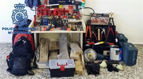 Material intervenido durante la operación. | CEDIDA