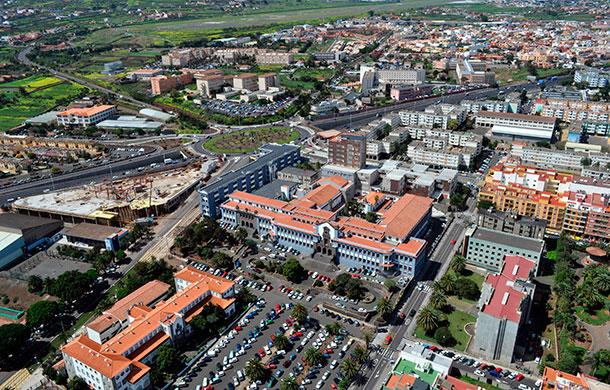 Vista aérea de la sede central de la Universidad de La Laguna. / DA