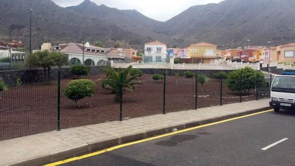 El parque para perros se ubica en la urbanización Lagunamar. | DA