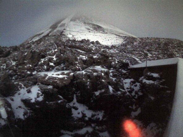 Imagen del Teide nevado. / DA