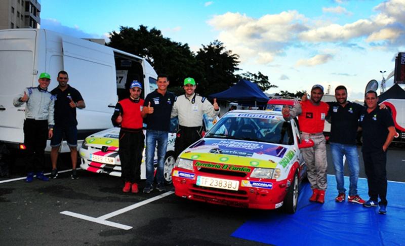 Alexis Rodríguez-José Ramón Chávez (Citröen Saxo) y Jonás González-Josué Méndez (Peugeot 106), brillantes campeones de la Challenge BP-Michelin en Tenerife