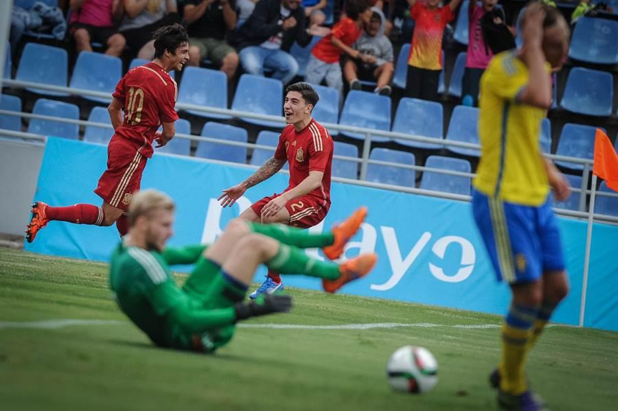 Imágenes del encuentro entre España y Suecia. | ANDRÉS GUTIÉRREZ