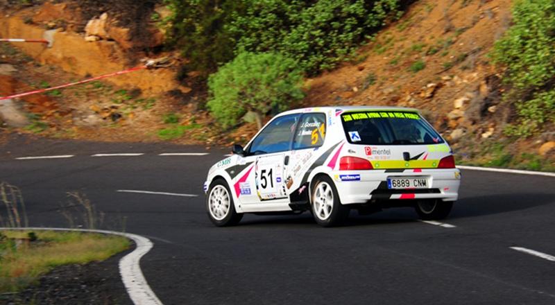 Jonás González-Josué Méndez (Peugeot 106 ) Rally Isla Tenerife 2015