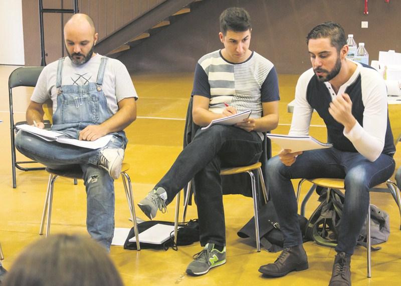 Mariano García (diseño de sonido) y Fran Guinot (ayudante de dirección) junto a José Padilla. /