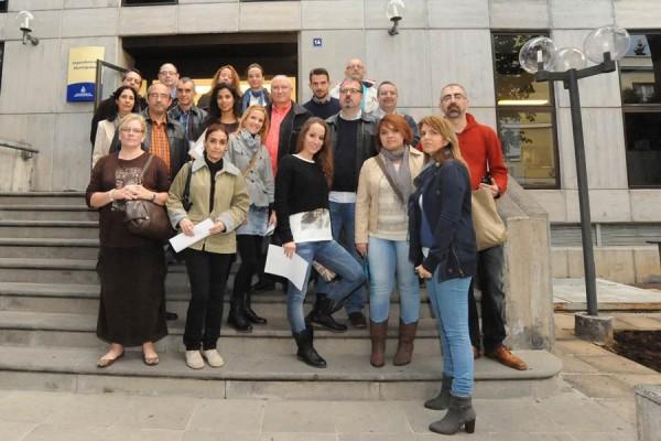 Los 23 extrabajadores llevan casi dos años en litigio con el Ayuntamiento para su reincorporación. | J. G.