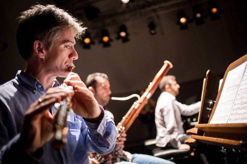 Imagen del pequeño recital ofrecido ayer por el grupo en la Sala de Cámara del Auditorio. / ANDRÉS GUTIÉRREZ