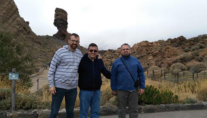 Los misioneros javerianos Miguel Taboada, Juan Carlos Díez y Rolando Ruiz. / DA