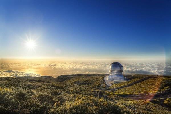 Observatorio del Roque de Los Muchachos, situado a 2.396 metros de altitud. | DA