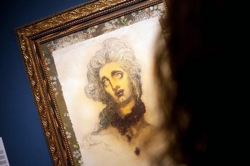 Uno de los cuadros presentes en la exposición, que se puede visitar hasta el 31 de enero en La Laguna. / F. P.
