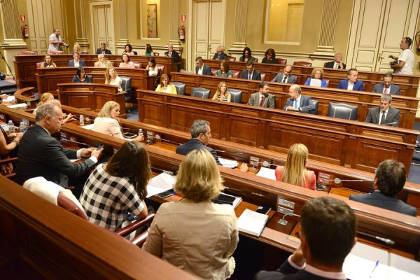 El contrato de Grafcan con El Salvador llega al Parlamento (en la imagen, durante un pleno). | S. M.