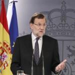 Mariano Rajoy en la comparecencia de este martes en Moncloa. / EP