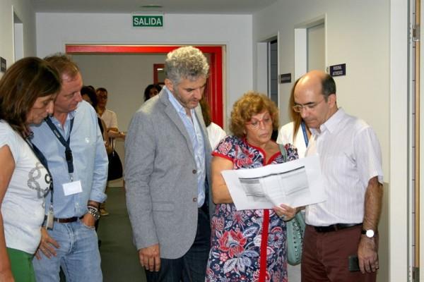 Roberto Moreno en el Hospital del Sur.   EP