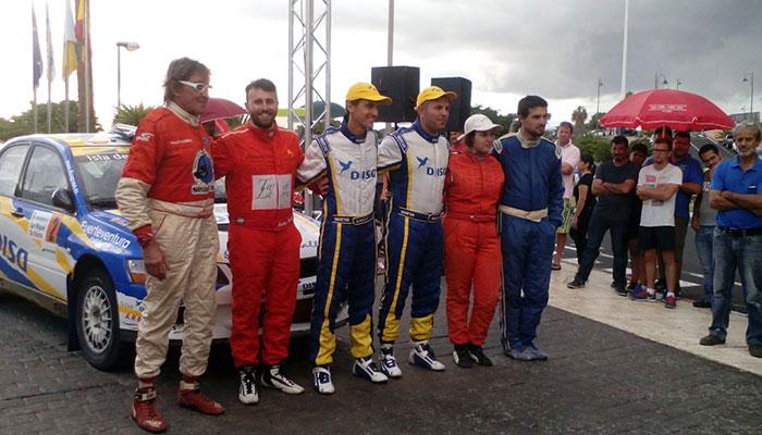 Los equipos que componen el podio final de la prueba tinerfeña. / DA