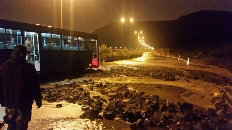 Desprendimiento en la zona de El Rincón, en Las Palmas de Gran Canaria./ Foto: CEDIDA