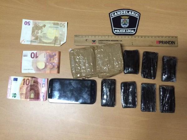 Hachís intervenido en Candelaria. | POLICÍA LOCAL DE CANDELARIA