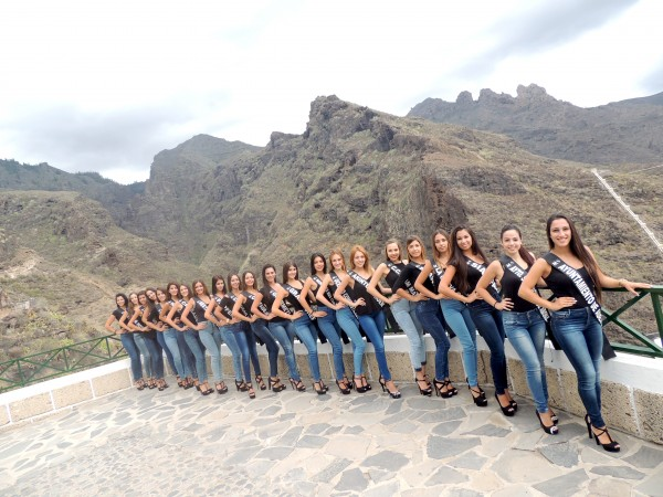 Las 22 candidatas a 'Miss Sur'. | DA