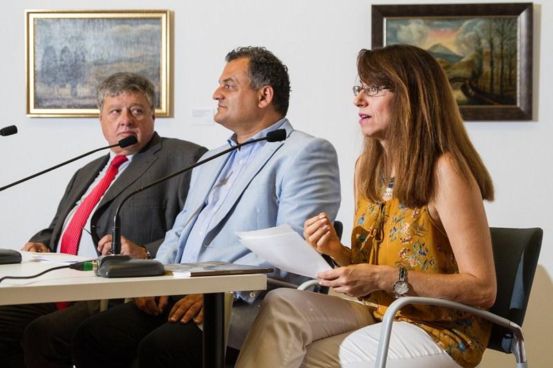 Alberto Delgado, José Alberto Díaz y Consuelo Conde. / DA