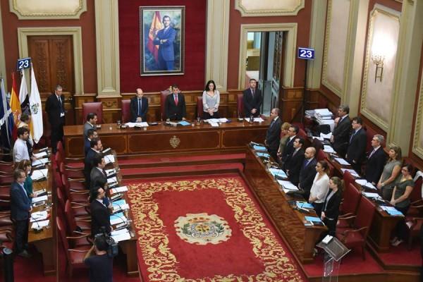 Pleno del Ayuntamiento de Santa Cruz de Tenerife. | SERGIO MÉNDEZ