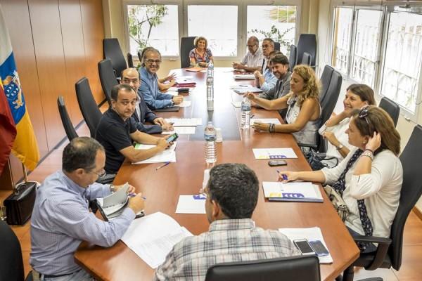 Imagen de la reunión entre representantes del Cabildo y Sanidad. | DA