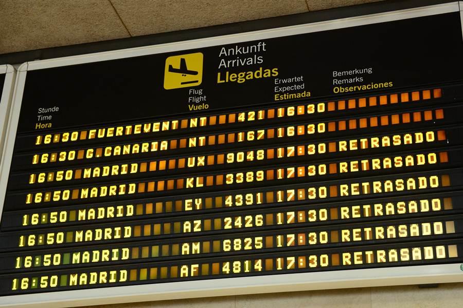 Numerosos desvíos y retrasos en Los Rodeos. | S. M.