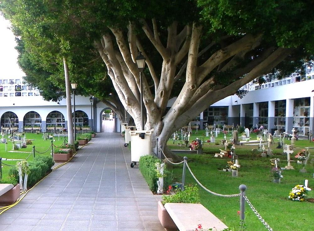 El cementerio más masificado es el de Arona, el único del municipio. / DA