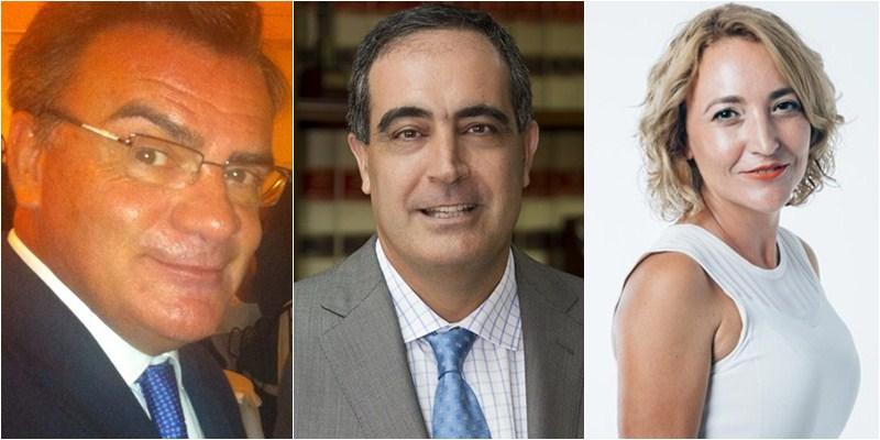 José Luis Sánchez Parodi, José Manuel Niederleytner y Marlene Martín. / DA